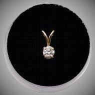 14K YG | .25 CTW | Diamond Pendant