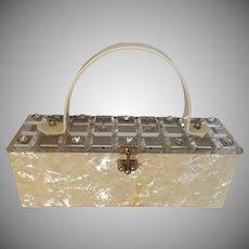 Myles Original 1950s Lucite Pearlized Handbag