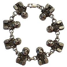 Signed Carol Felley  Sterling Silver StoryTeller Bracelet