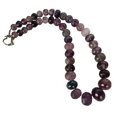 Beautiful! | LARGE 20MM | Graduated Faceted Fluorite Bead Necklace - Red Tag Sale Item