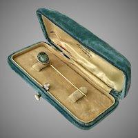 Vintage | 14K YG Scarab Stick Pin