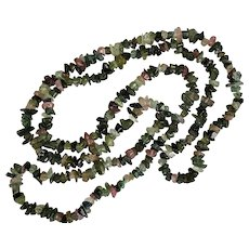 Beautiful 35-Inch | Tumbled Tourmaline Bead Vintage Necklace - Red Tag Sale Item