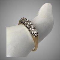 14K YG | 5-Stone Diamond Ring 0.25 CTW  Size 7