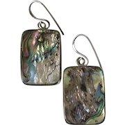 Beautiful | Sterling Silver Abalone Vintage Earrings