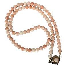 Vintage 10K/12K YG Coral Bead Necklace