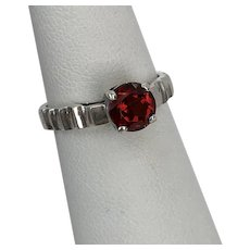Sterling Silver  Pyrope Garnet Ring Size 6