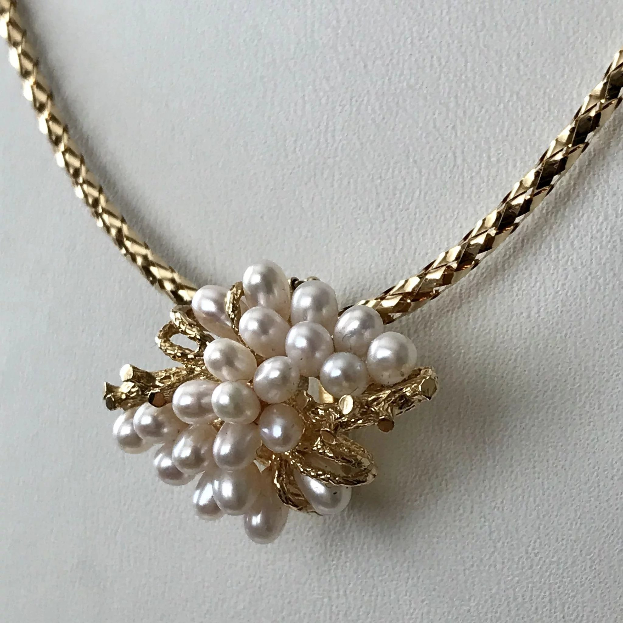 necklace pearl diamond fullscreen pendant lyst akoya dew view cultured morning mikimoto jewelry