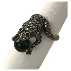 Marcasite Frog Ring