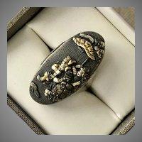 Shakudo Mixed Metal Ring Size 6-3/4