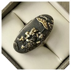 Shakudo Mixed Metal Ring Size 6-3/4