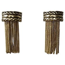 Vintage Whiting & Davis Deco-Style Fringe Earrings