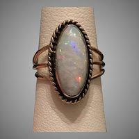 Vintage  14K YG Australian Opal Ring Size 5