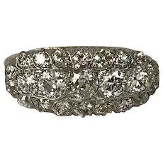 2.35CTW 14K & Platinum Diamond Ring Size 5-3/4