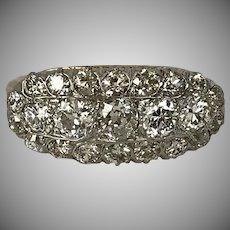 2.35CTW 14K & Platinum Diamond Ring Size 5-3/4