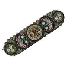 Late Victorian Italian Micro Mosaic Brooch