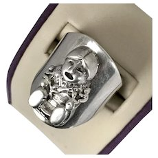 Signed Carol Felley Sterling Silver StoryTeller Ring