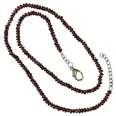 17-Inch Faceted Garnet Bead Necklace