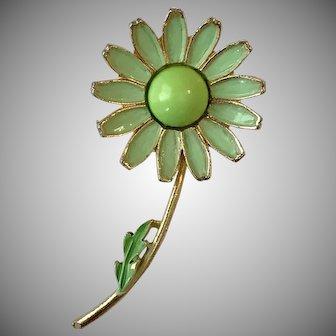 Vintage Weiss Enameled Floral Brooch