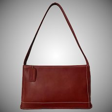 Beautiful Red! Vintage Coach Leather Shoulder Bag