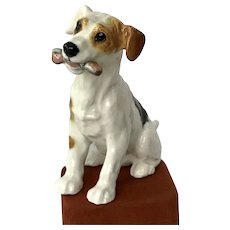 Looking For His Forever Home - Feisty! Porcelain Royal Doulton Jack Russell Terrier Figurine England