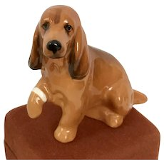 Vintage English Royal Doulton Cocker Spaniel with Bandaged Paw Figurine - Red Tag Sale Item