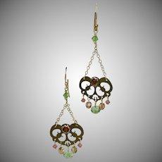 Pretty! Faceted Crystal Chandelier Earrings