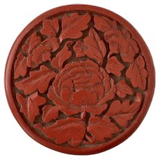 Lovely! Red Floral Cinnabar Box