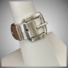 NICE! Vintage Sterling Silver Buckle Ring Size 6-1/2