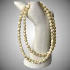 Lovely! 23-Inch Mother of Pearl Bead Necklace