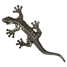 Vintage Hand Made Sterling Silver Lizard