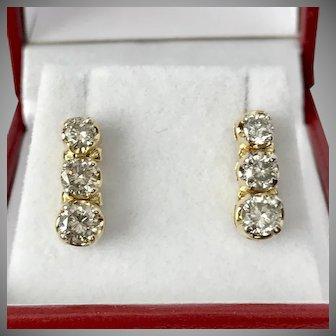 Gotta Have! 14K YG Vintage Diamond Drop 1.5 CTW Earrings