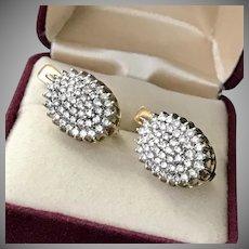 Gorgeous! 18K YG 4CTW Diamond Earrings
