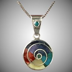 Sterling Silver Gemstone Pendant with Chain