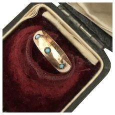 SWEET! Victorian Rose Gold Baby's Ring Size 2