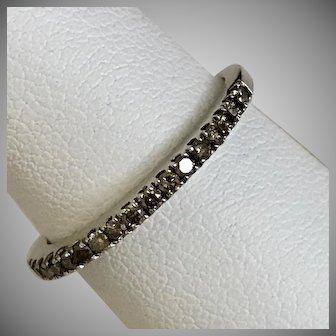 LeVian Chocolate Diamond Skinny Ring/Band 14K YG Size 6-3/4