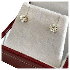 0.50 CTW Diamond Stud Earrings 14K YG