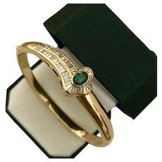 18K YG  2.55 Diamond CTW Chrome Tourmaline and Diamond Bracelet