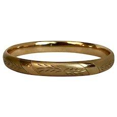 Vintage Bangle Bracelet 1/20 14K Gold Fill
