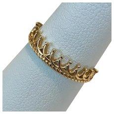 Lovely 14K YG Tiara Ring Size 6