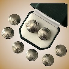 Set of 8, Indian Head & Buffalo Head Nickel Button Covers