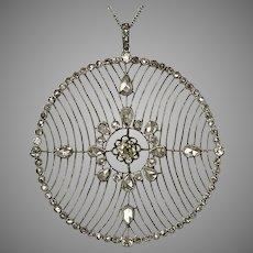Platinum 3.15CTW Belle Époque Diamond Pendant