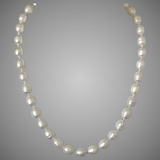 14K YG Freshwater Cultured Baroque Pearl Necklace 17-1/2 Inch