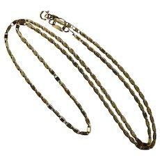10e8071c7 16-1/4 Inch 14K Flat Gucci-Style Chain