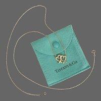 24-Inch 18K Tiffany & Co. Paloma Picasso Loving Heart Interlocking Necklace