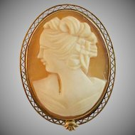 Vintage Hand Carved Cameo Pin/Pendant
