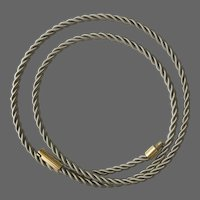 Gorgeous! 14 Grams,  19-3/4 Inch, 14K Twisted Coiled Chain Necklace