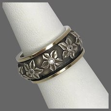 Floral Sterling Silver Forget-Me-Not Spinner Ring