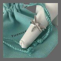 18K WG Tiffany Diamond Dragonfly Ring Size 5-1/2