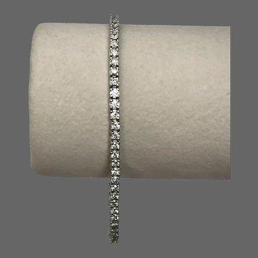 Beautiful! 4.16 CTTW 14K WG Diamond Tennis Bracelet 7-3/8 Inches