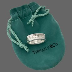 TIFFANY 1837 T&CO Sterling Silver Ring Size 7.5